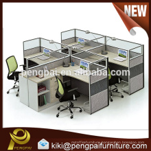 Chinese factory direct sale quality staff partition for four person