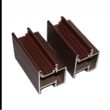 Wood Grain aluminum Profiles Building Decoration