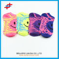 Cute smile pattern spring ankle socks for teenager,fashion for sport
