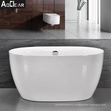 Aokeliya 2021 high-quality acrylic soaking stand alone bathtubs with faucet classic white tub for bathroom