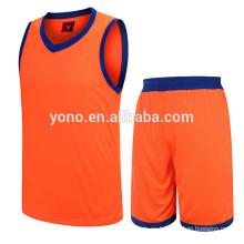 2017 mejor precio competitivo de la jersey del baloncesto nuevo modelo llano uniforme del baloncesto kit