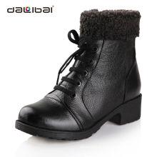 Calçados de couro da forma das mulheres italianas do inverno carregadores