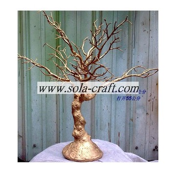 Gold Color 50CM Plastic Wedding table crystal tree centerpiece Decoration
