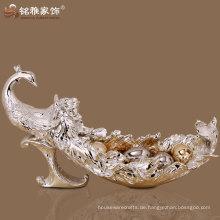 Luxus-Design ausgezeichnete Qualität Pfau Figuren Obstteller für Wohnkultur