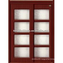 Double MDF Door JKD-8099 With Ground Glass MDF Door with PVC Finish