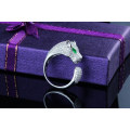 leopard silver 925 rhodium plated colour cz rings