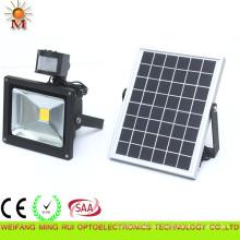 10W IP 65 Solarbetriebenes LED-Flutlicht mit PIR-Sensor