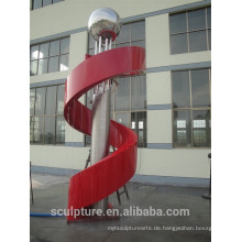 Heiße verkaufende moderne Edelstahlbrunnen-Skulpturmetallskulptur Zhejiang-Provinz