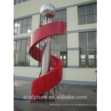 Fuente moderna vendedora caliente de la escultura del metal de la escultura de la fuente del acero inoxidable provincia de zhejiang