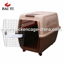 Cage de vol de chien de Chambre d'animal familier en plastique d'aviation