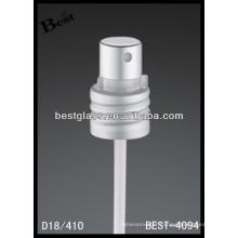18/410 pulvérisateur de pompe de parfum en aluminium, vaporisateur cosmétique de bouteilles et pompe, pulvérisateur de pompe de parfum