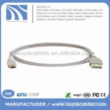 Hochwertiges Standard-USB-Kabel A bis Mini-USB-Kabel beige