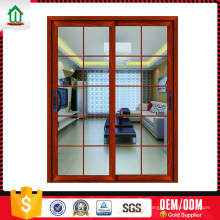 Porte en verre coulissante Design Simple personnalisé sur mesure avec grilles Porte en verre Coulissant Design simple simple sur mesure avec Grills