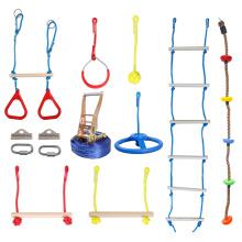 GIBBON Slackline Ladder, Swing, Wheel And Rings