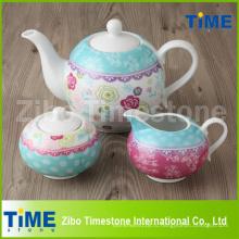 Оптовый фарфоровый чайный сервиз Decal