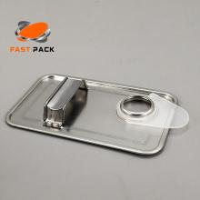 F-Stil rechteckige Gallone Weißblech Deckel Komponenten