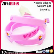 Pulsera vibrante del wristband del silicón de la promoción al por mayor