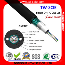 Cable de fibra óptica blindado GYXTW de modo simple