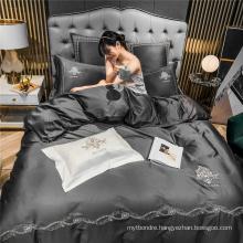 Hotel Supplys Deluxe Deep Pocket Bed Linen Cotton Fabric for Queen Bed