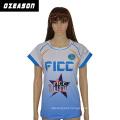 Custom Make Polyester Women Short Sleeves Volleyball Jersey