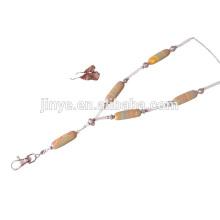 Fashion Bohemian Stripped Gemstone Beaded Lanyard ,Beaded Necklace Lanyard