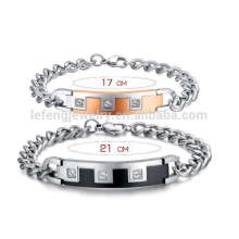 Romantisches Metall Chunky Diamant sein und ihr Armband, Beziehungsarmbänder für Sie und Ihn