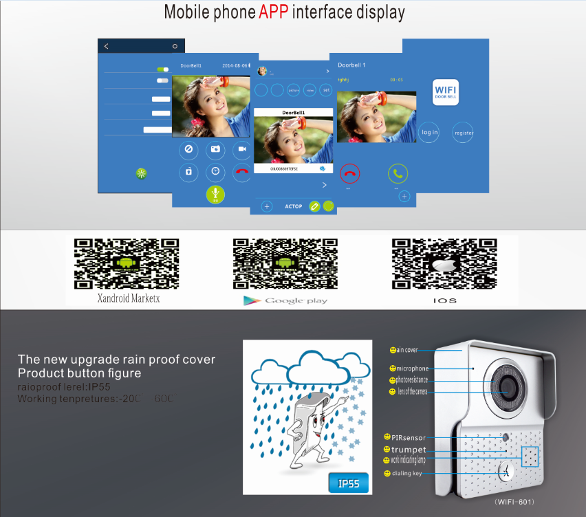 wifi video door phone app