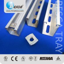 Hot Dip galvanized Galvabond Steel Material Electrical C U Uni Strut Channel Price List 4x41 and 41x22