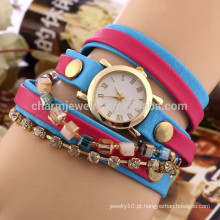 Novo diamante feminino relógio de moda senhoras urdidura pulseira relógio Mulheres quartzo DIY relógio BWL020