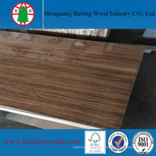 Placa de MDF de melamina de alta brilho de madeira de 18 mm