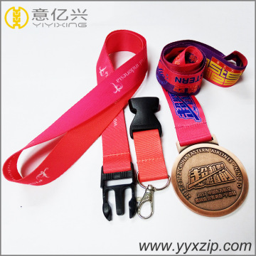 Sublimación Nylon Cuello promocional Insignia Holder Lanyard