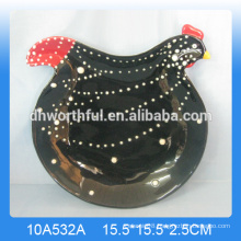 High Quality Ceramic Rooster Plate Wholesale