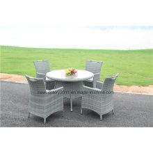 Открытый сад ротанга wicker Обедая комплект таблицы и стула