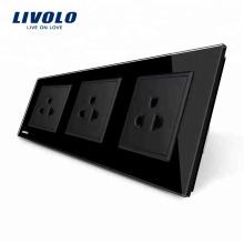 Livolo Новый стандарт США Электрическая розетка 16A Тройная розетка VL-C7C3US-12