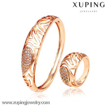 62431- Xuping Women 2-pcs gold bangles set models design