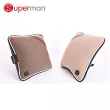 PU de couro e material de tecido almofada de assento de carro em casa como visto na tv bateria sem fio operado vibração de volta almofada de massagem