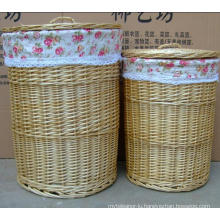 (BC-WB1022) High Quality Handmade Natural Willow Laundry Basket/Gift Basket