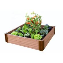 Decorative Modern Customized design WPC Outdoor Garden Patio Vegetable or Flower Planter Box