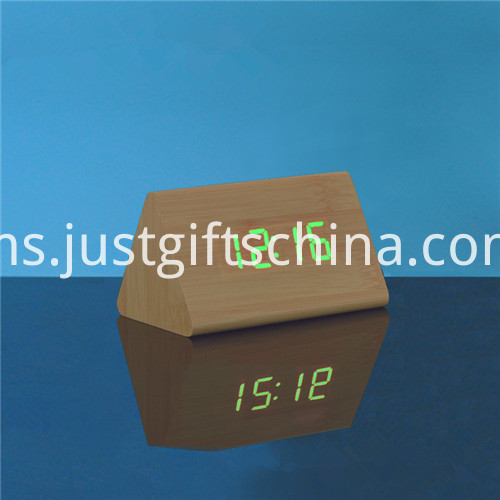 Promotional LED Wooden Table Clock 1