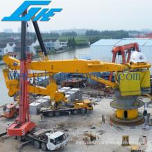 Capacité de levage élevée Hydraulic Knuckle Boom Offshore Crane