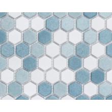 Decoração de piso de mosaico de vidro