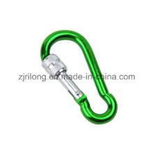 Gourd Shape Aluminium Snap Hook avec Screw-Lock Dr-Z0109