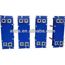 Cambiador de calor de placa de titanio para mar agua, placa y marco de intercambiador de calor, intercambiador de calor