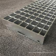 Hot Dip Galvanization Treated Mild Steel Step Steel Grating for Platform Stairs