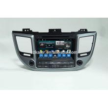 Quad core voiture gps de navigation avec caméra de recul sans fil, wifi, BT, lien miroir, DVR, SWC pour Hyundai IX35 2015