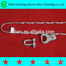 High quality aluminium clad steel wire or galvanized steel wire guy grip dead end right hand direction for ADSS cable