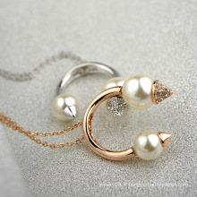 Meilleur design Collier perle bijoux haut de gamme costume perle et cristal joyeux bijoux collier