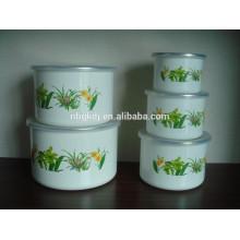 3/5 устанавливает высокие ледяные чаши с PE цветок крышка покрытие