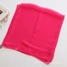 Mulheres Mei Red Pure Color Poliéster Chiffon Scarf Shawl