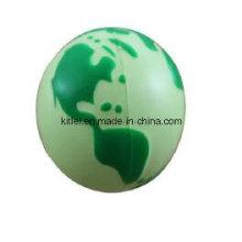 PU пены Земли формы сжать сферы глобус анти стресс мяч